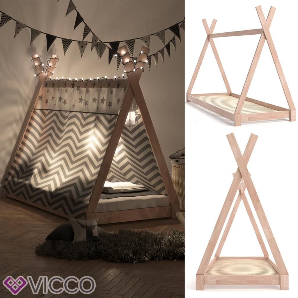 vitalispa kinderbett tipi kinderhaus indianer zelt kinder. Black Bedroom Furniture Sets. Home Design Ideas