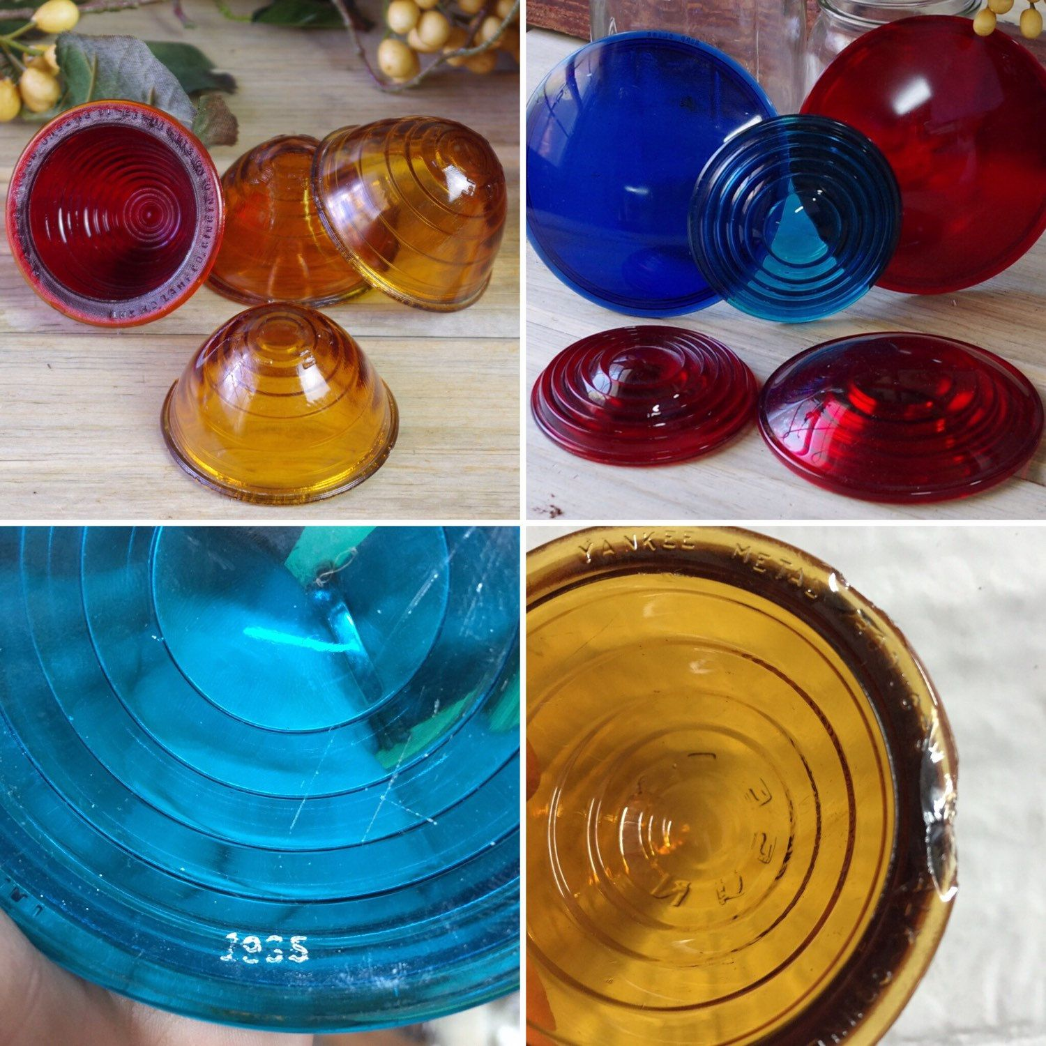 NEW finds! These are vintage railroad signal light lenses  If your a