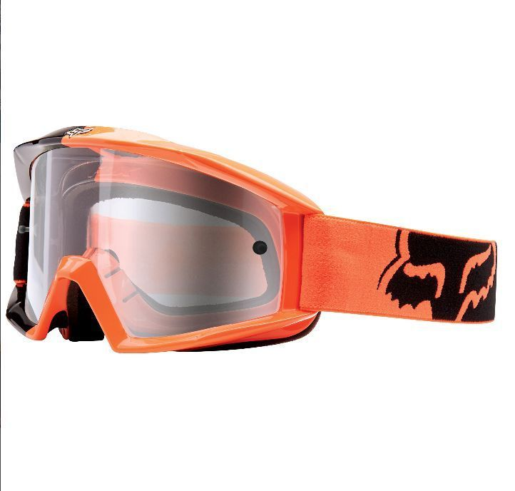 Fox Racing Main Race 180 Ktm Orange Mx Goggles Clear Lense
