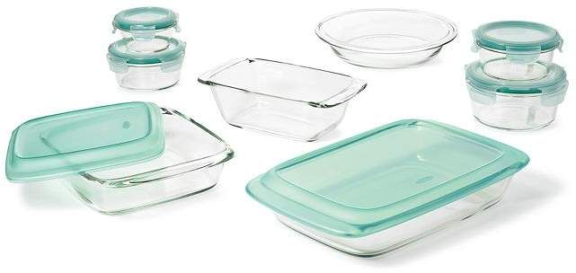 Oxo Good Grips 14 Piece Bake Serve And Store Set Clear Green
