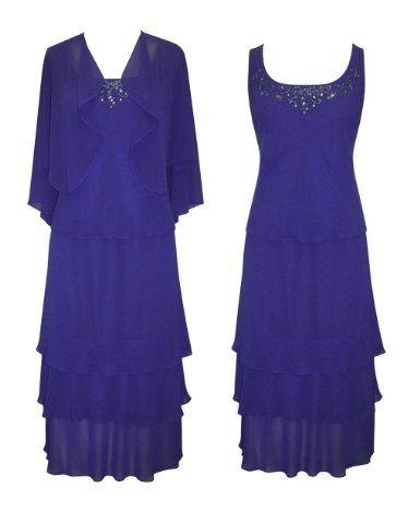 Amazon.com: Plus Size Sapphire Sensation Evening Dress --Size: 18 ...