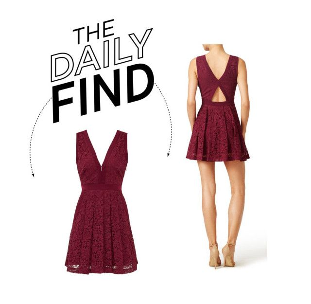 """The Daily Find: Free People Lace Dress"" by polyvore-editorial ❤ liked on Polyvore featuring Free People and DailyFind"