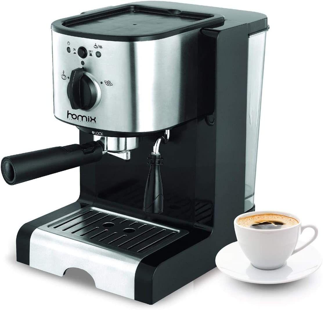 The Art Of Shooping محضره قهوة Homix Cappuccino Machine 1 25l 1470w 15bar Cappuccino Machine Cappuccino Cappuccino Maker