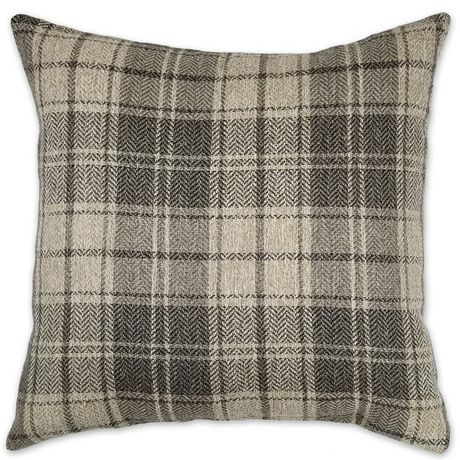 Hometrends Harvard Plaid Decorative Cushion Grey 18x18 In