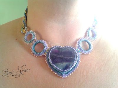 Fluorite Necklace Eliana Maniero design - 2013