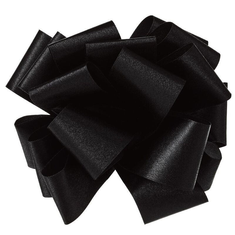 Black Satin Ribbon Gift Bow, 5 #howtomakeabowwithribbon