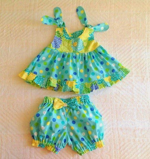 Ruffled Top/Dress Sewing Pattern, Newborn to 6 years.
