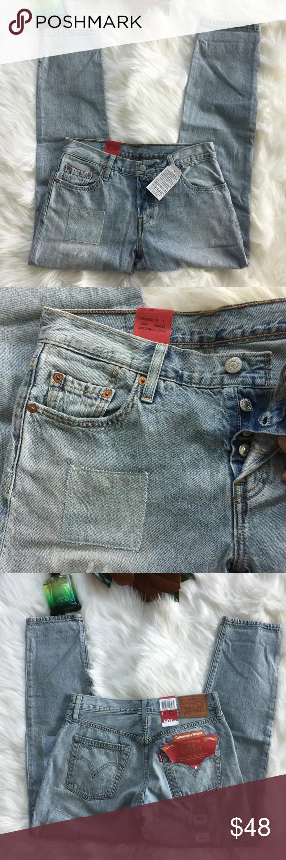 Hp Levis Bayan Cropped Jean Pantolon 501 Ct Nwt Clothes Design Fashion Fashion Design