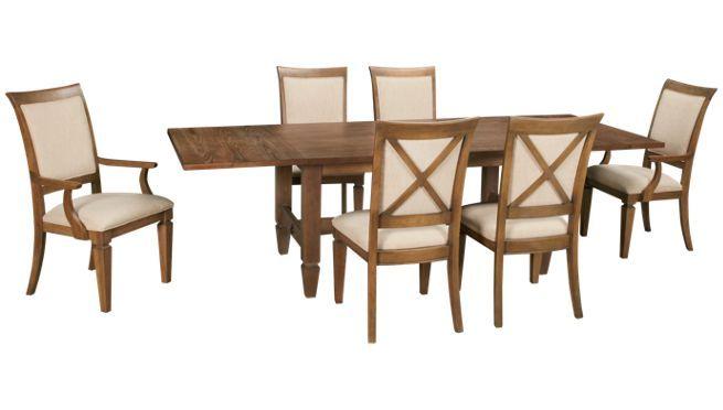 Legacy Brownstone 7 Piece Dining Set Jordan S Furniture Kitchen Table Settings Dining Room Sets Furniture