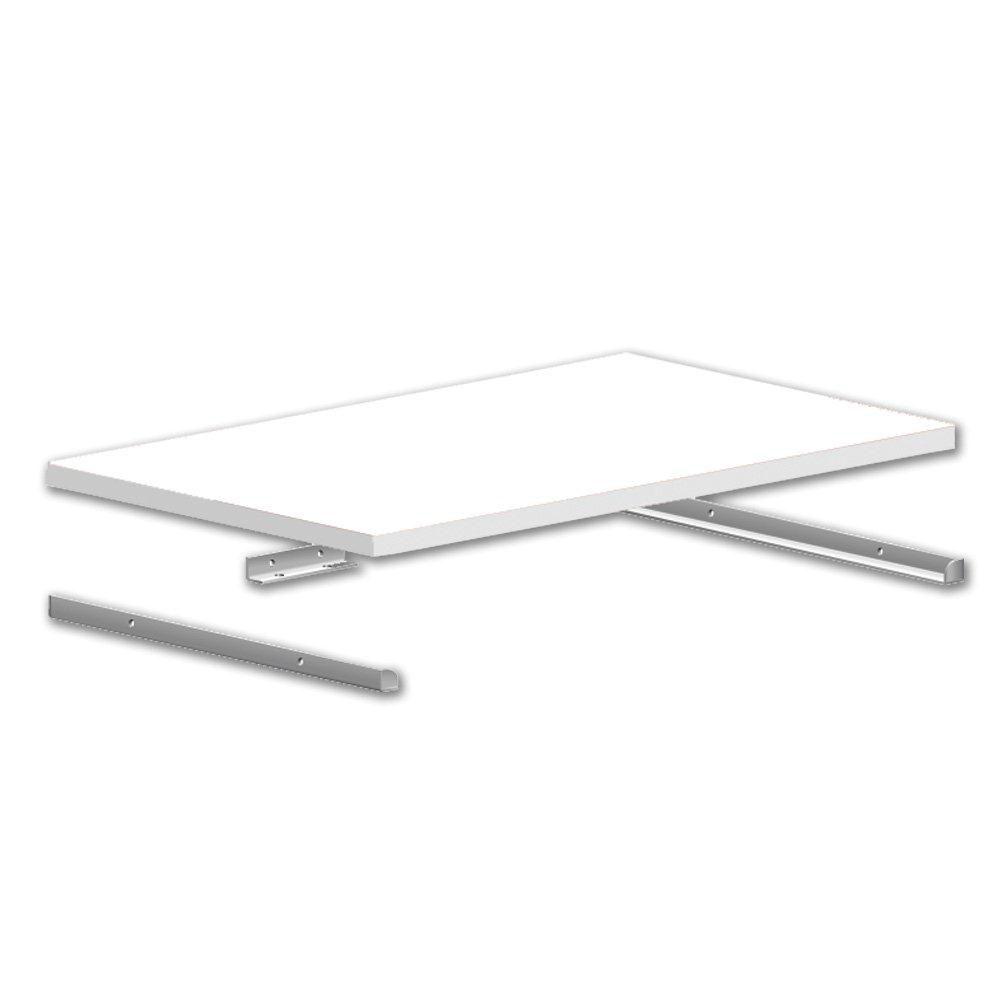 14 Inch Closetmaid Selectives Metal Shelf Support Kit In White Metal Shelf Supports Shelf Supports Closetmaid Closet Organizer