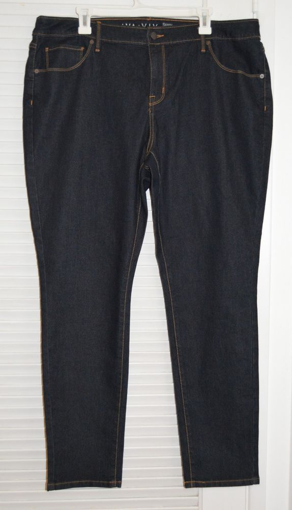ae0c6e574cbd49 Womens Ava & Viv Skinny Entubado Cotton Blend Jeans Plus Size 20W #11  #AvaViv #SlimSkinny