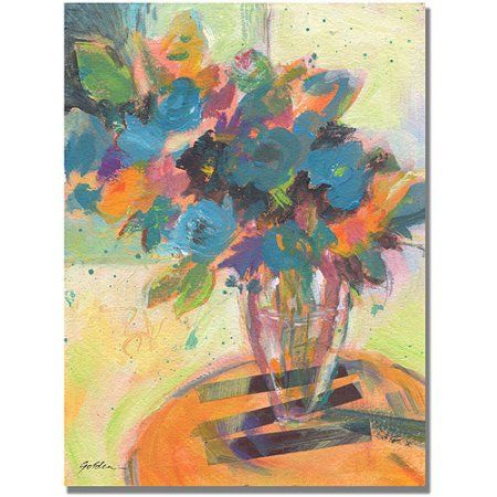 Trademark Art Blue Blossoming Canvas Art by Shelia Golden, Size: 35 x 47, Multicolor