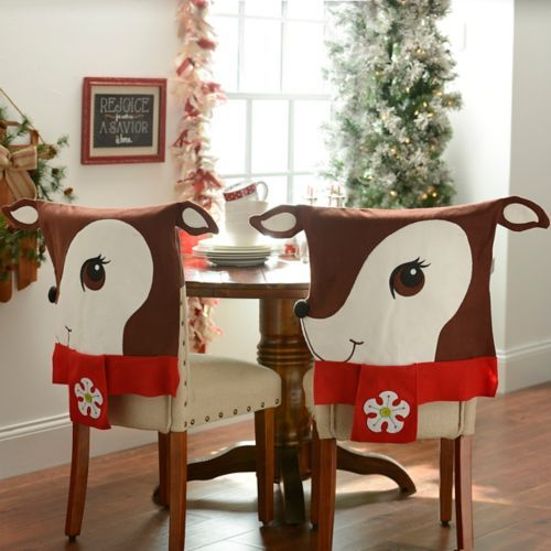 Decorate Your Dinning With These Lovely Christmas Chair: Reindeer Chair Covers, Set Of 2