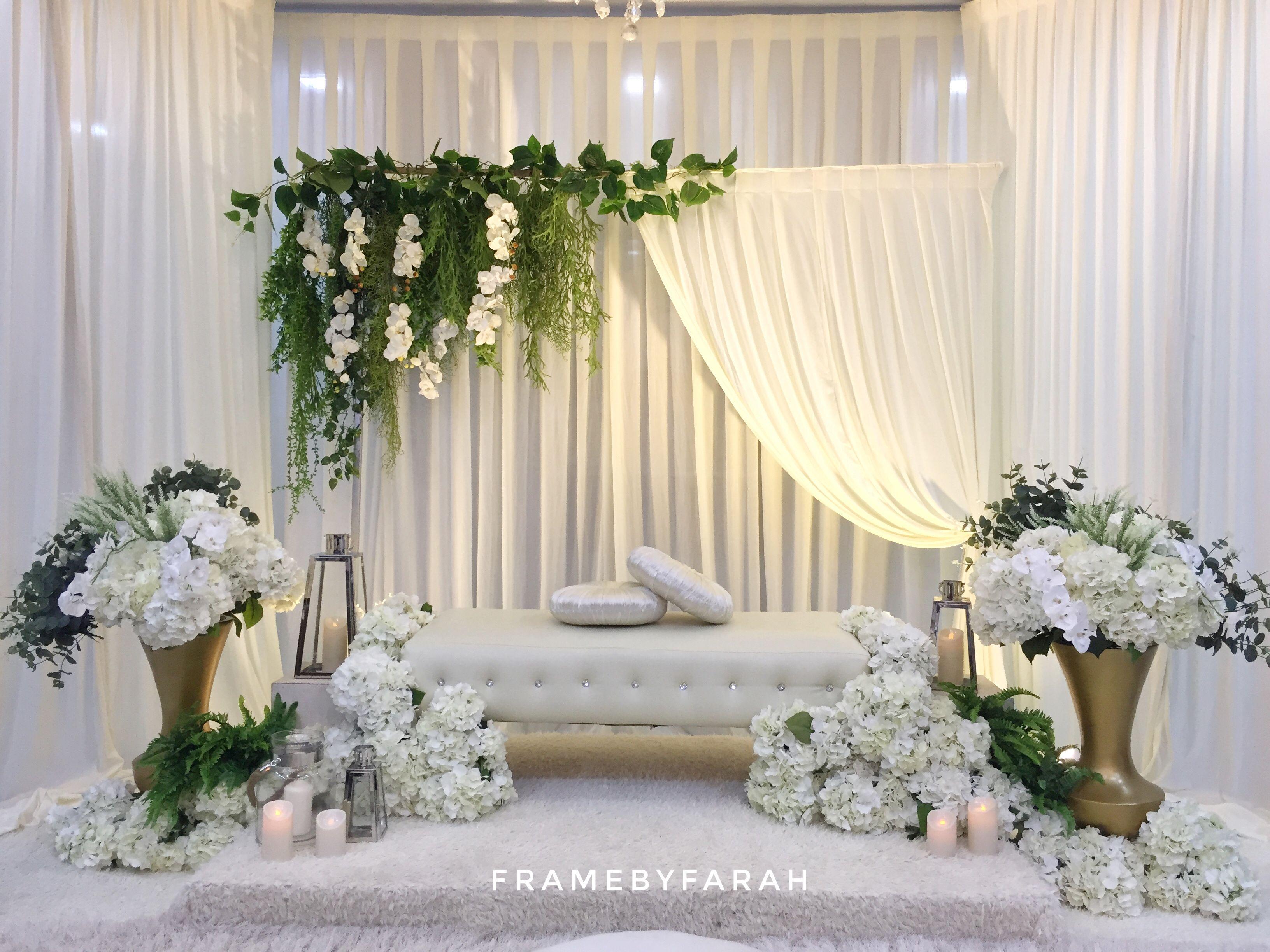 Mini Pelamin By Framebyfarah Latar Belakang Pernikahan Dekorasi Pernikahan Dekor