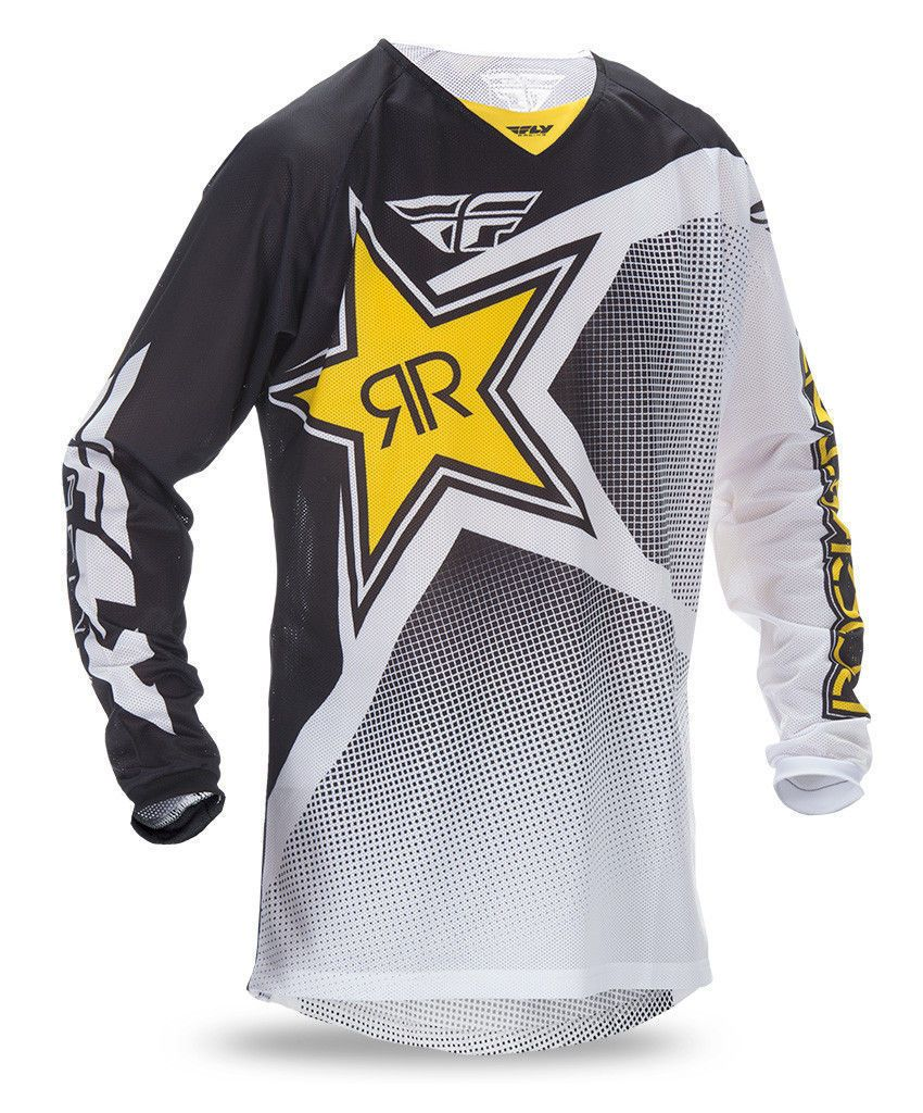 Fly Racing Kinetic Rockstar Energy Jersey MX ATV BMX MTB Riding Shirt Gear 2019