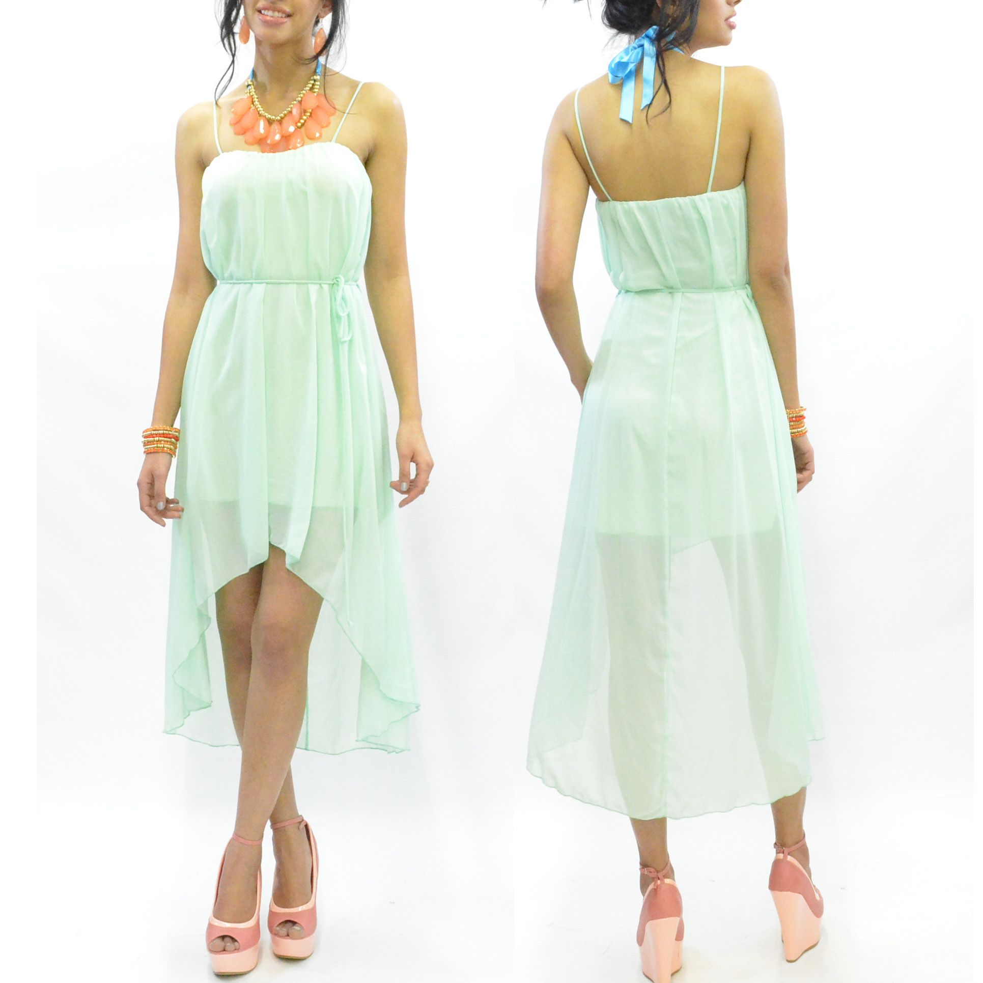 Sea Chase Mini Maxi Mint Dress