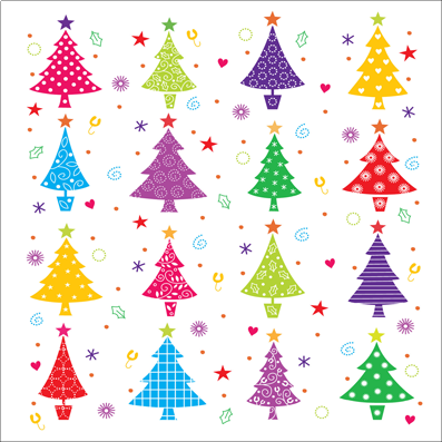 Firs in a Row - Macmillan Cancer Support Christmas Cards   Charity ...