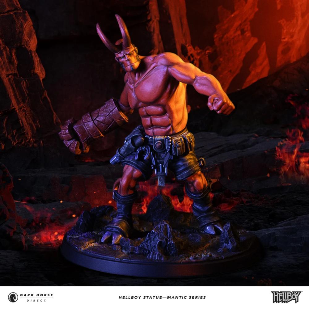 Hellboy Statue—Mantic Series Statue base, Dark horse