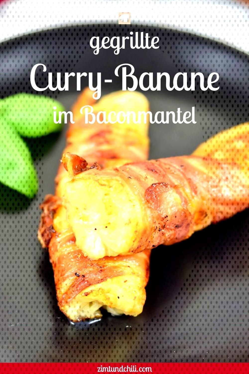 Grilled curry banana in a bacon coating - cinnamon & chili -  GRILLED CURRY BANANA IN A BACON COAT