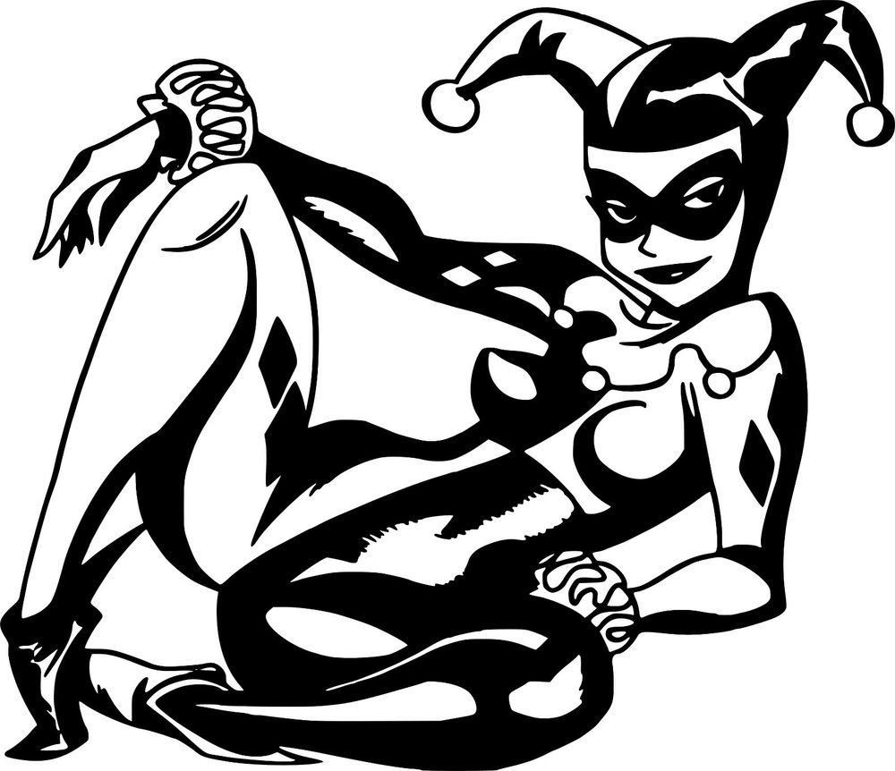Harley quinn dc comics decal car wall laptop bike vinyl sticker 6 x 5 decalmania13
