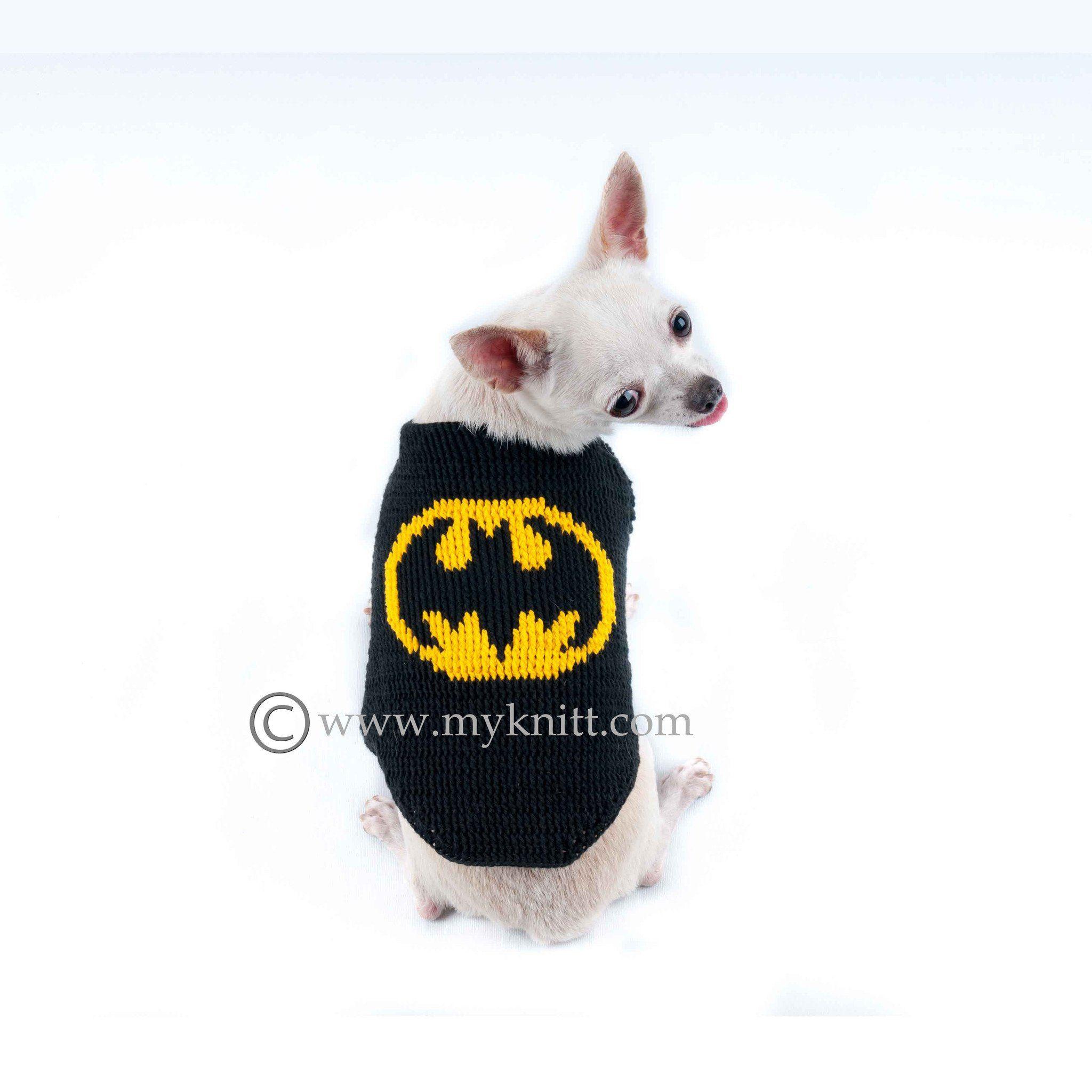 Batman Dog Costumes Handmade Crocheted DC Comics Superheroes DF68 ...