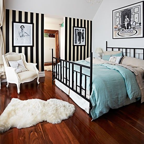 Black And White Bedroom Ideas  Monochrome Bedroom Feature Wall Interesting Monochrome Bedroom Design Ideas Design Inspiration