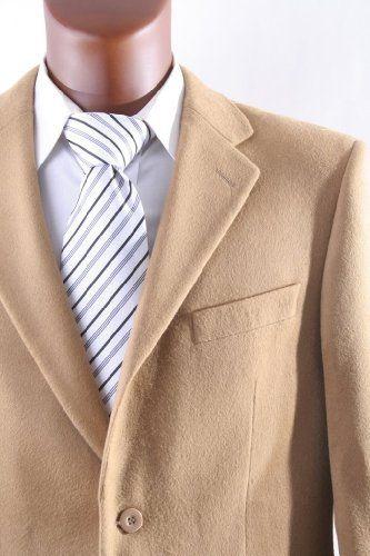 Colors Prontomoda Mens 2 Button Luxury Wool Cashmere Sport Coat