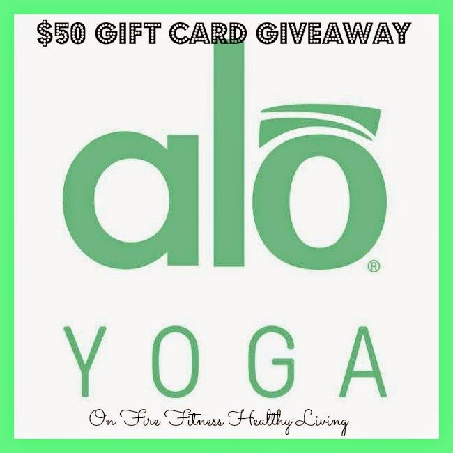On Fire Fitness Healthy Living : Enter to Win a $50 Gift Card from Alo Yoga Clothing now-May 15th!  Head over to enter!