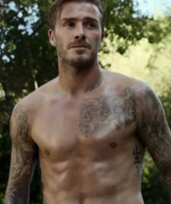 David Beckham Shows Off Unbelievably Hot Body Wearing Almost Nothing at All (VIDEO)