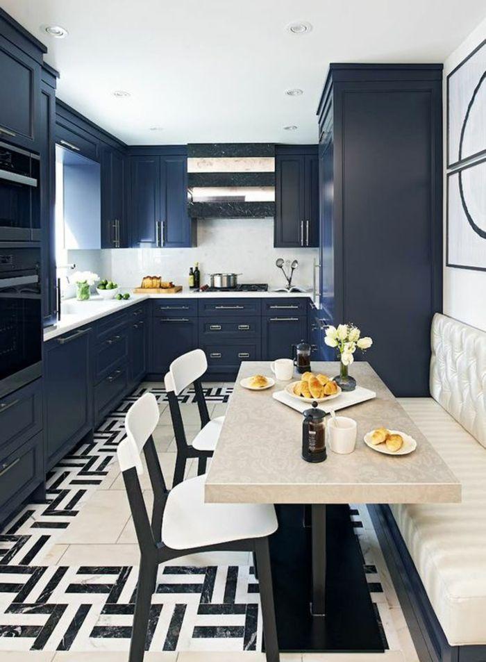 ▷ 1001 + Idées pour repeindre sa cuisine + les couleurs phares du - Repeindre Un Meuble En Chene