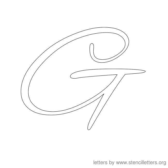 Cursive Letter Stencils G | Art | Pinterest | Cursive letters ...