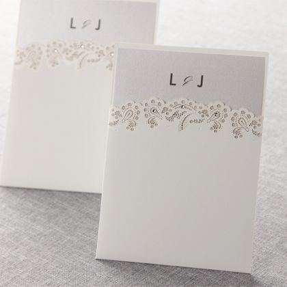 Lace+Garden+with+Studs+by+B+Wedding+Invitations $4.12 each for 45