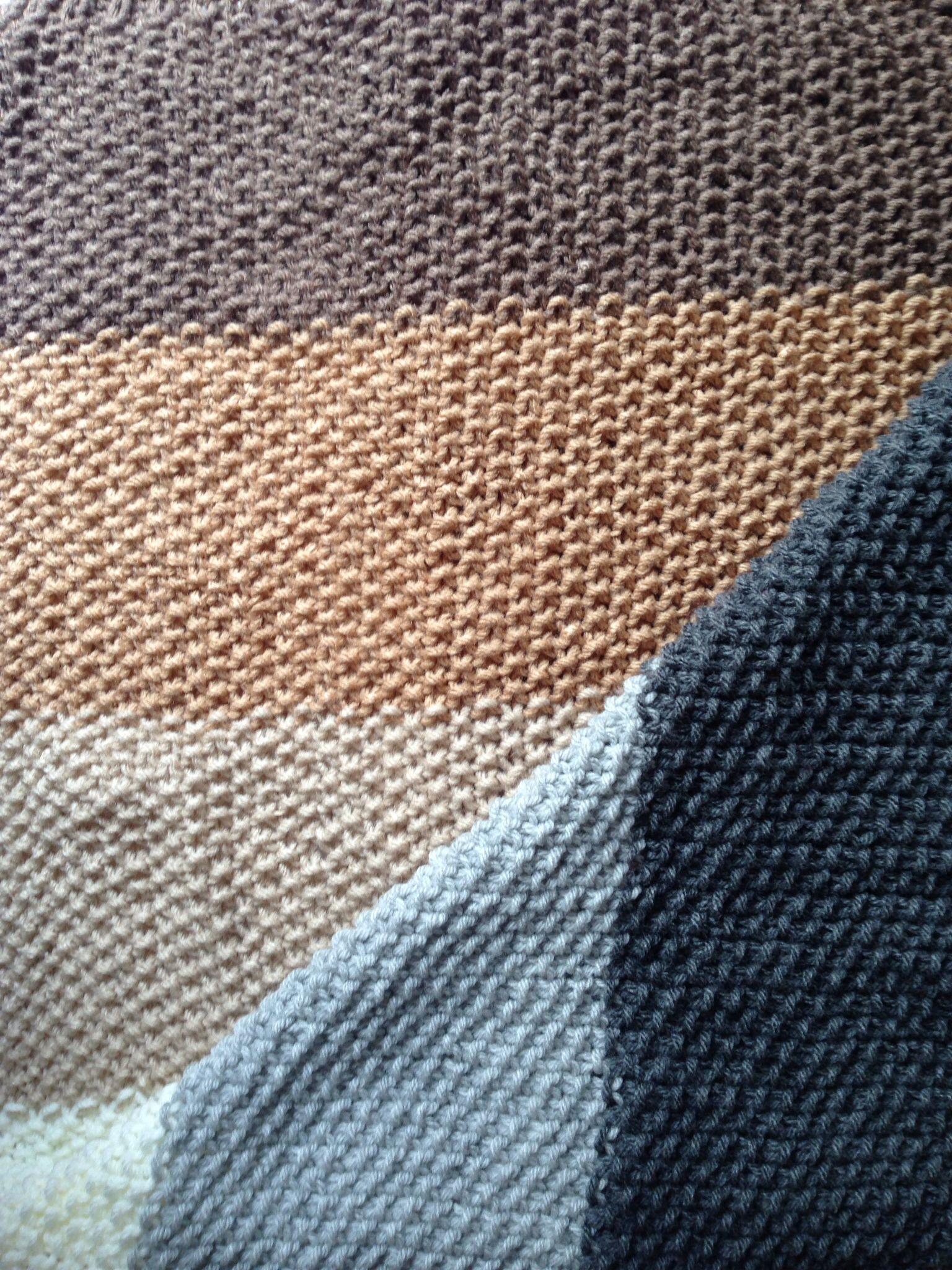 Manta tejida dos agujas pie de cama tejido pinterest - Mantas lana ganchillo ...