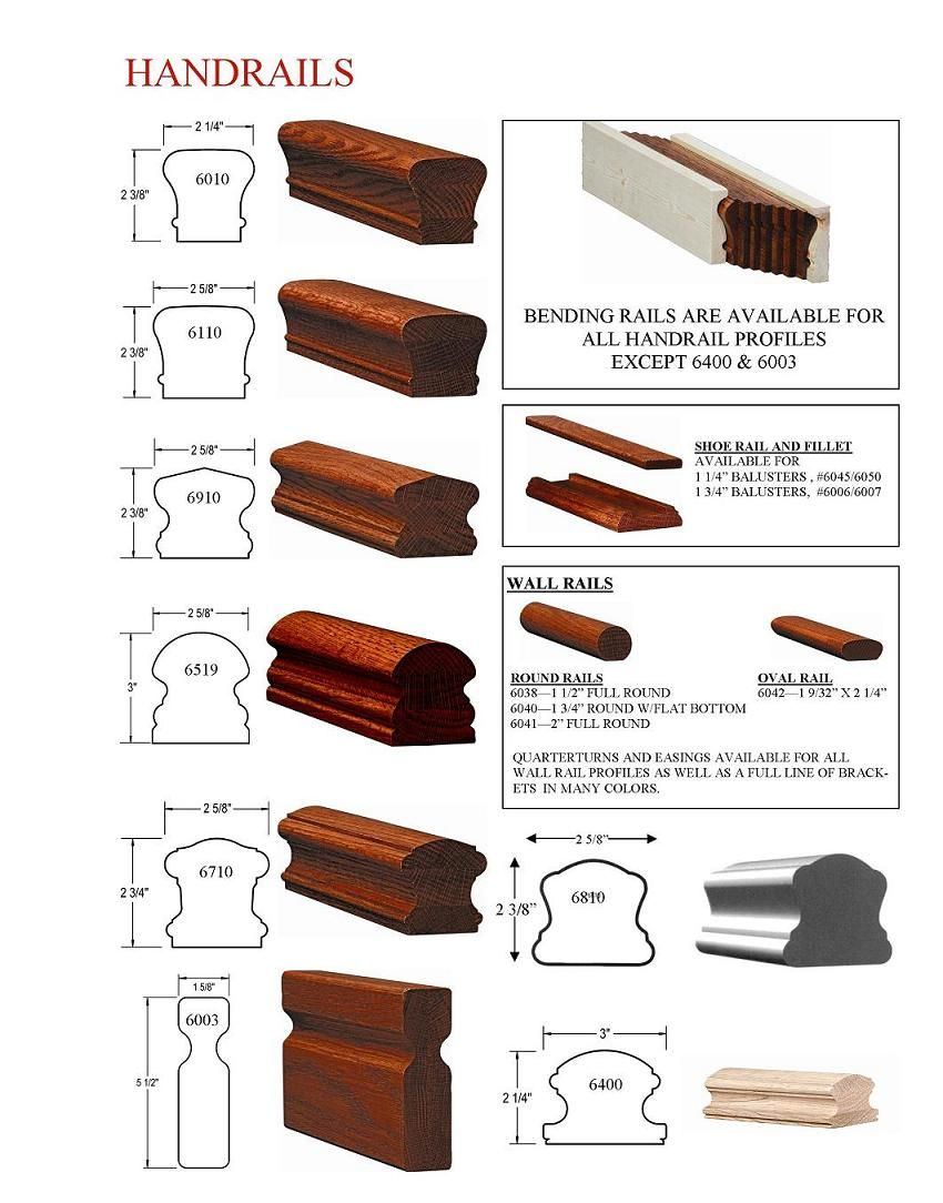 Best Stair Handrail Styles Oak Wood Railings Nj Handrail 640 x 480
