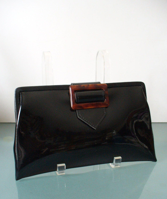 Jane Shilton Patent Leather Clutch Bag By Theoldbagonline On Etsy