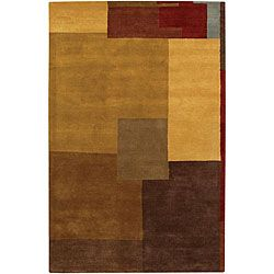 @Overstock - A unique geometric design highlights this hand-tufted wool rug. The Mandara area rug features shades of dark brown, brown, burgundy, grey and gold.http://www.overstock.com/Home-Garden/Hand-tufted-Mandara-Multi-Geometric-Wool-Rug-79-x-106/5088062/product.html?CID=214117 $426.23