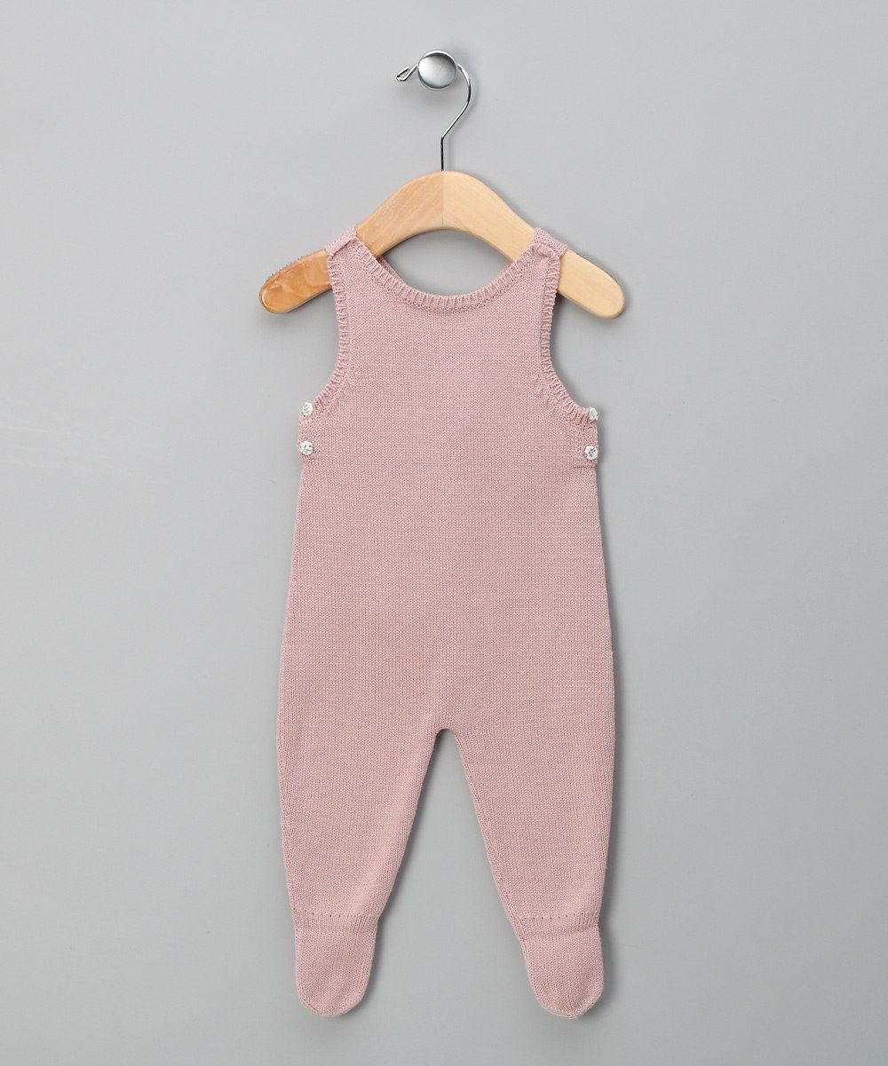 Rose Knitted Dungarees - Infant  love this colour for newborn girls <3