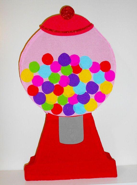 Gumball machine pinata- candyland birthday Party decoration- sweet