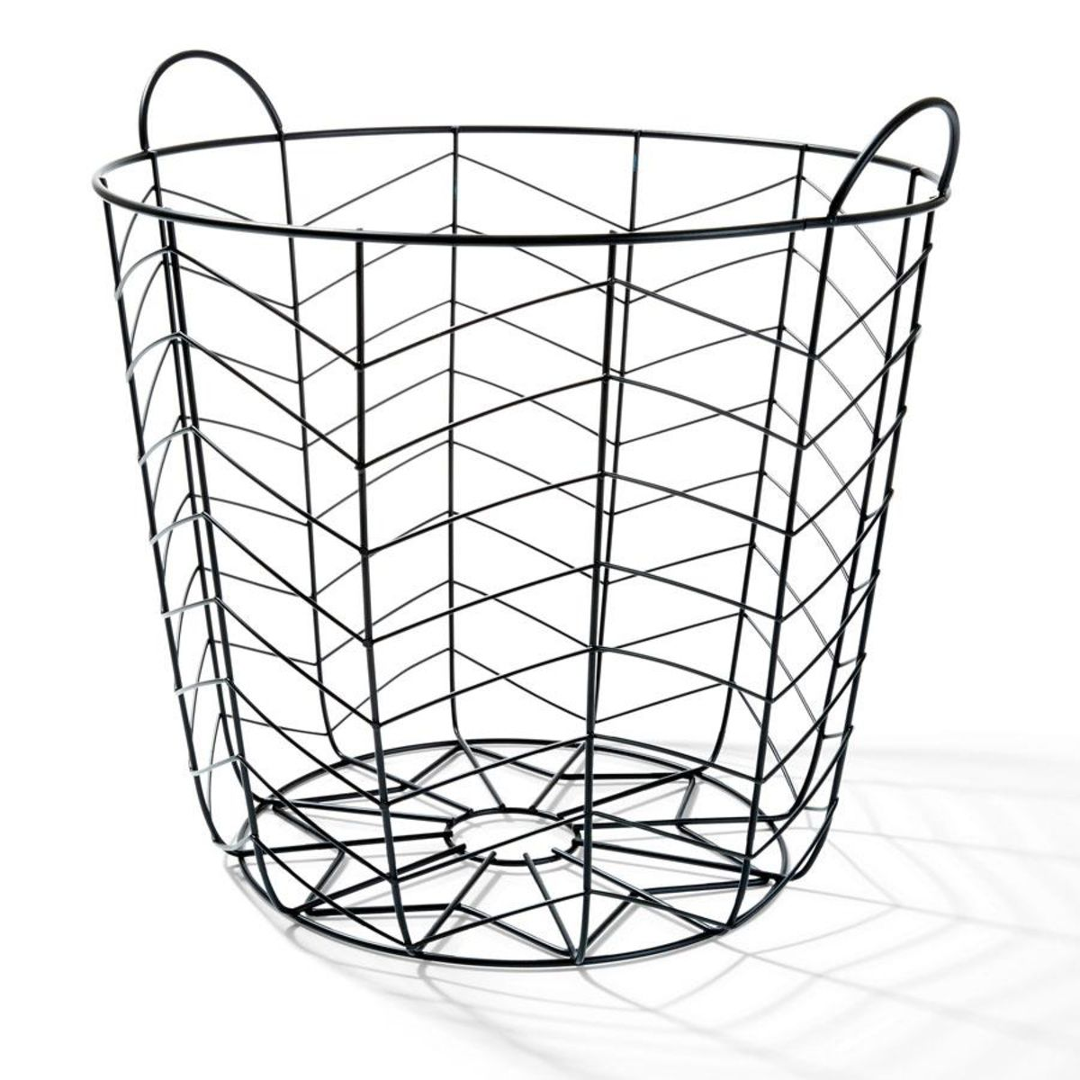 Black Round Wire Basket | Wire basket, Living rooms and Bedrooms