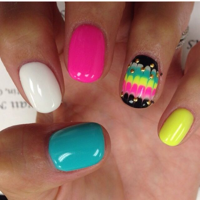 Love these neon colours