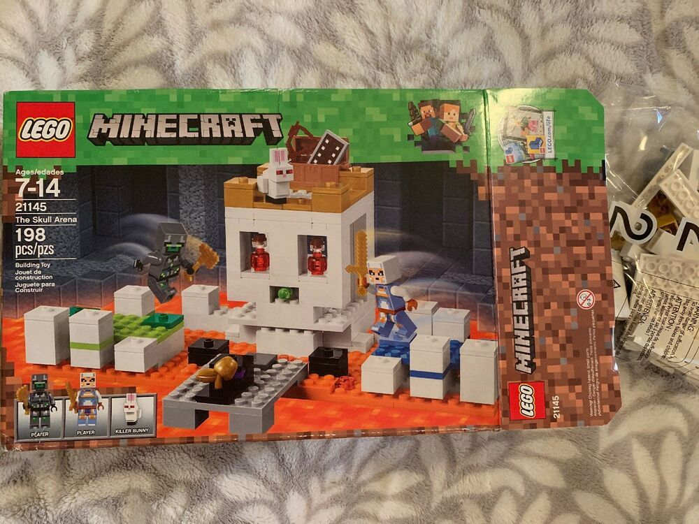 Multicolored Brand New Sealed Lego 198 Piece Minecraft The Skull Arena Set