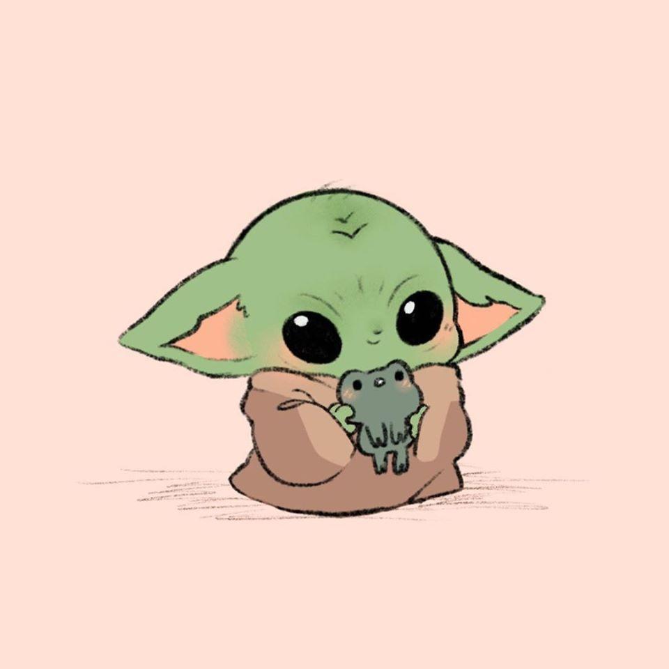 Baby Yoda Chibi Fan Art In 2020 With Images Yoda Drawing Cute