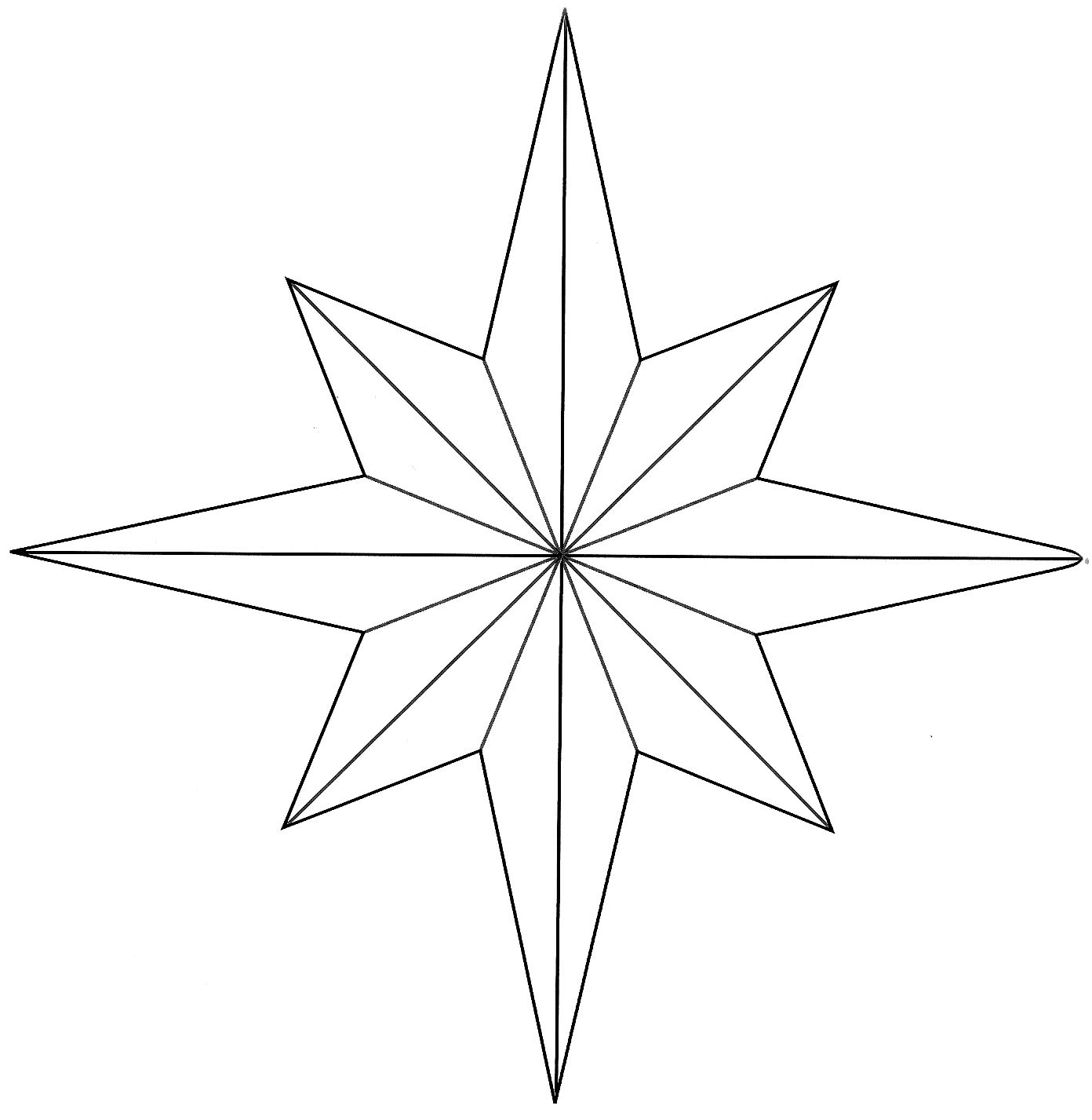 Hopemore eight point star template for d your picks for Paper star pattern template
