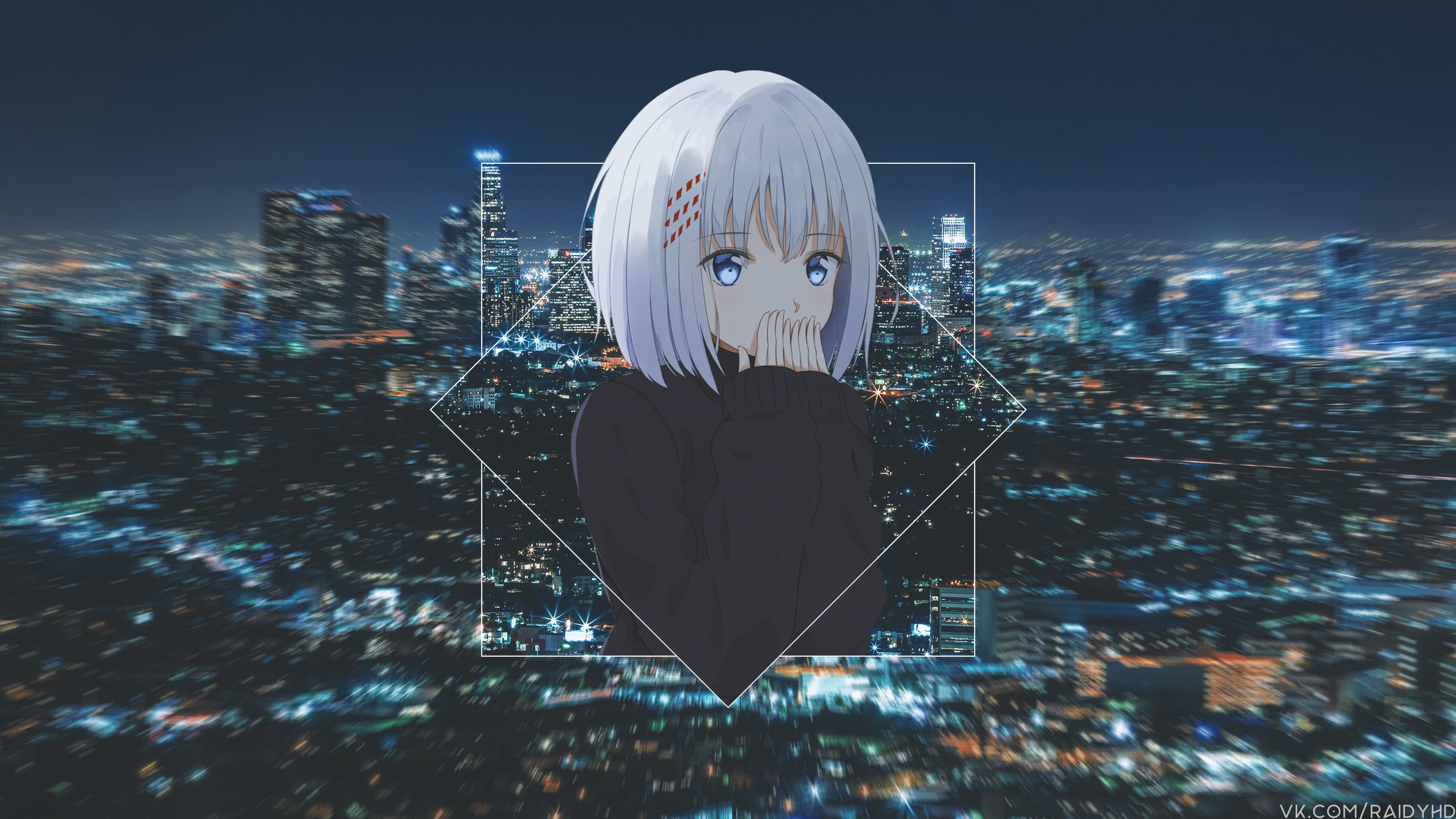 Tobiichi Origami Anime Girls Anime Picture In Picture 4k Wallpaper Hdwallpaper Desktop Hd Anime Wallpapers Wallpaper Pc Anime Anime Wallpaper