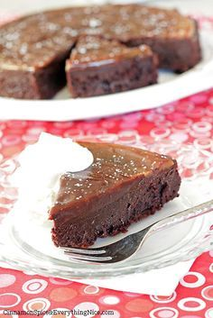Flourless Chocolate Caramel Cake