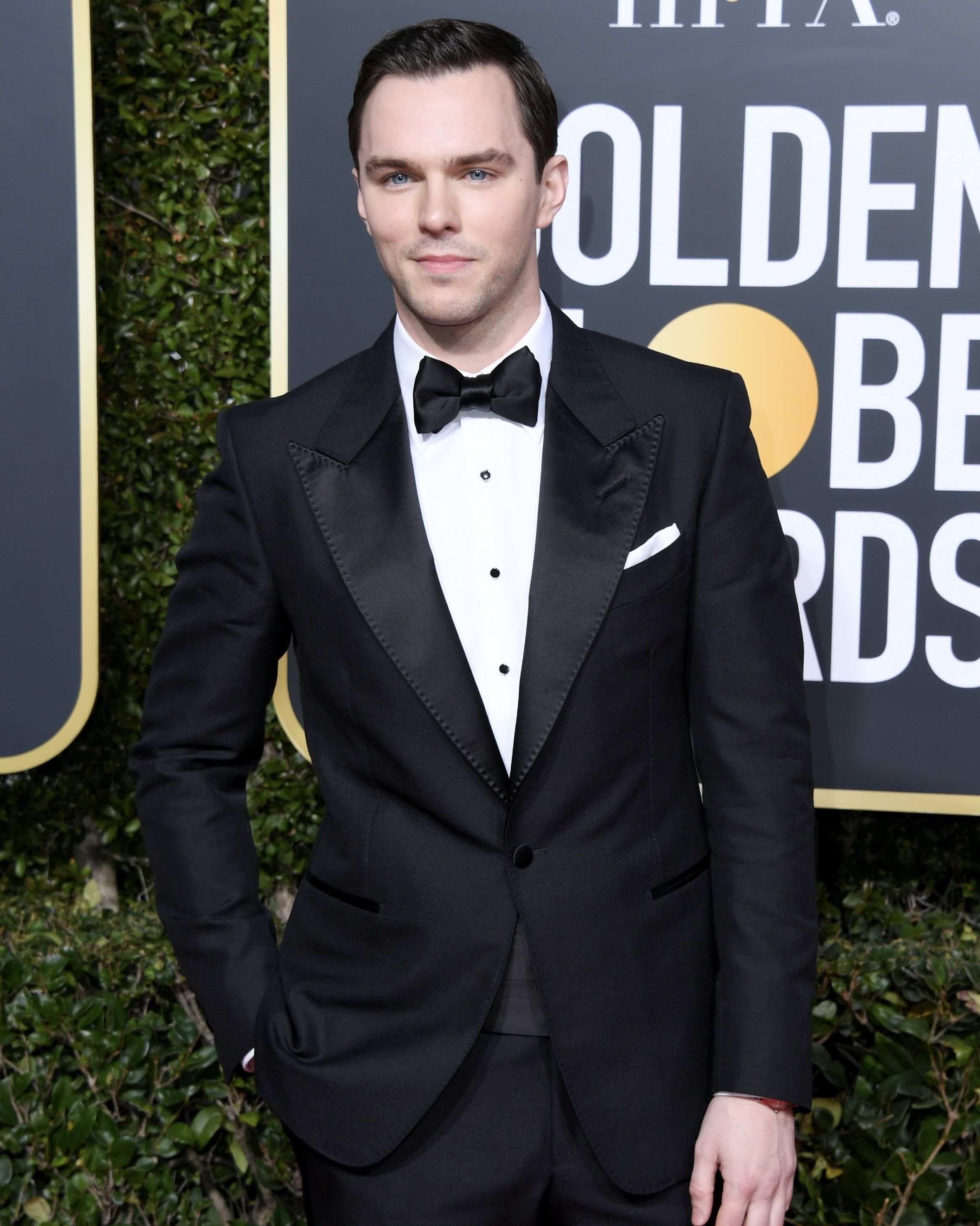 978b2025a30e Nicholas Hoult wore a TOM FORD Atticus peak lapel tuxedo to the 76th Annual  Golden Globes Awards.  TOMFORD  GoldenGlobes