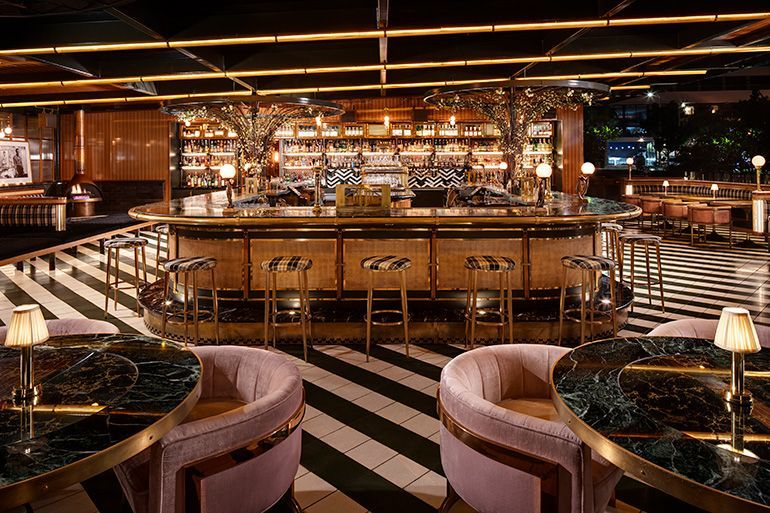 Basile Studio Raises The Roof For The Born And Raised Of San Diego Decoration Homedecor H Restaurant Design Bar Interior Design Steakhouse Restaurant Design