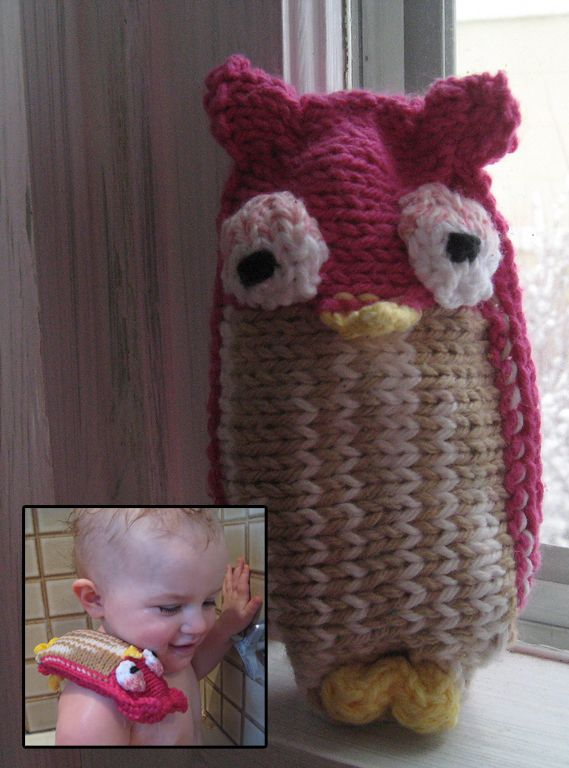 Free Knitting Pattern For Owlie Soap Sack Rachel Jankovics