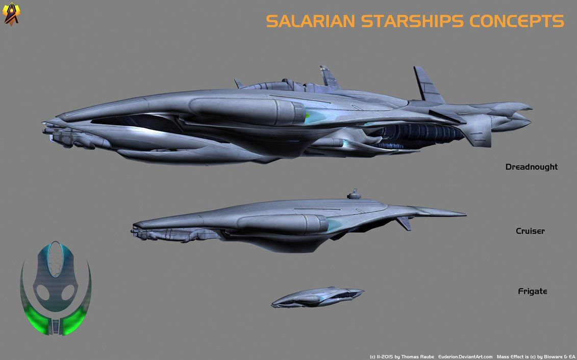 Salarian Starship Concept By Euderion Mass Effect In 2019