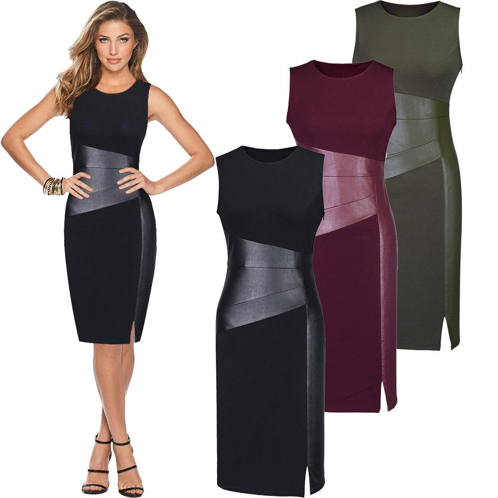 Photo of leather bodycon dress